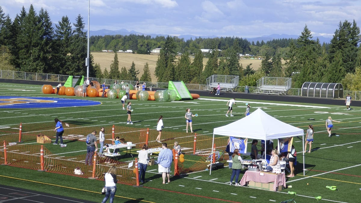 The carnival midway at last year's Experience Ridgefield event is shown here. This year's event is set for Sat., Sept. 8 at the new Ridgefield Outdoor Recreation Complex.