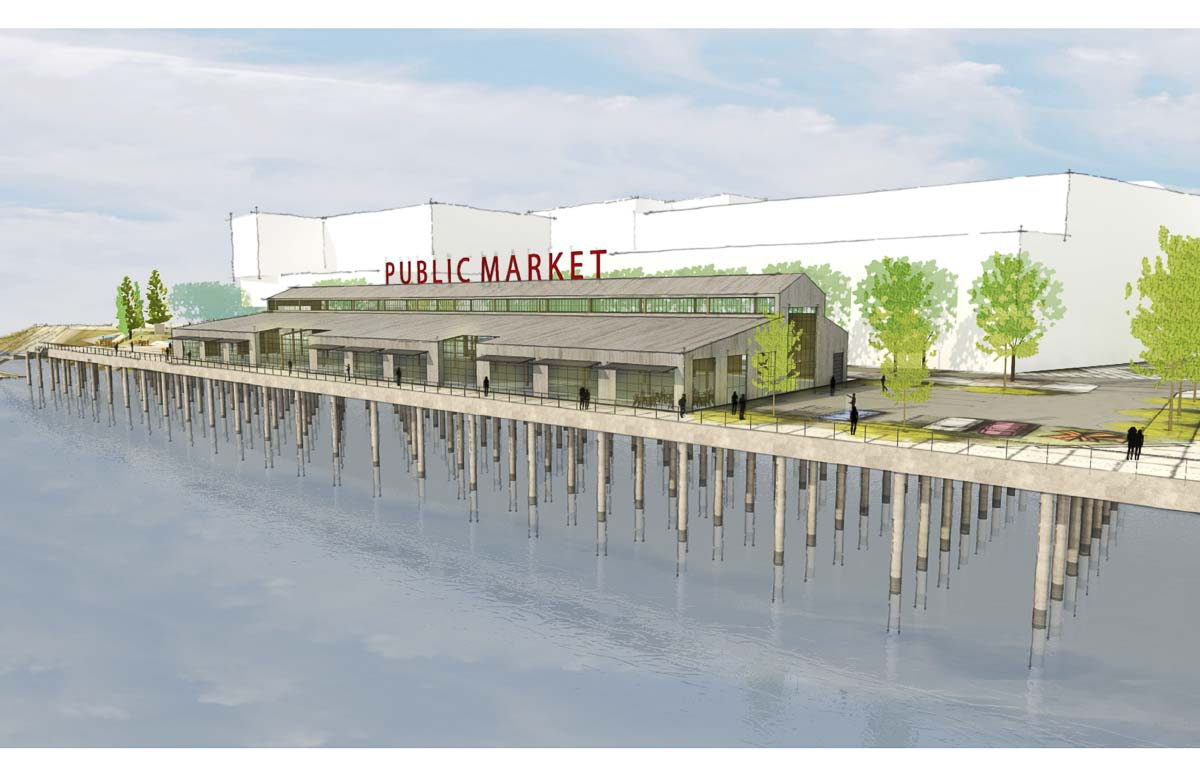 This is one of three concepts shown last May for the Port of Vancouver's Terminal 1 Public Market concept. Photo courtesy Port of Vancouver