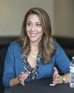 Congresswoman Jaime Herrera Beutler talks with a ClarkCountyToday.com reporter in late May following her annual jobs fair. Photo By Mike Schultz