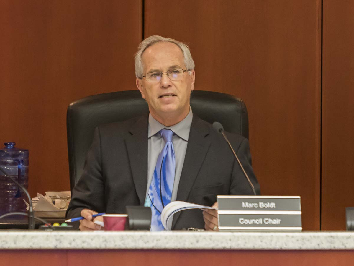 County Chair Marc Boldt (shown here in a file photo) was not able to attend the recent League of Women Voters of Clark County Candidate Forum but he submitted answers to the moderator's questions in an email response to ClarkCountyToday.com. Photo by Mike Schultz