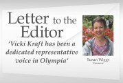 Letter: 'Vicki Kraft has been a dedicated representative voice in Olympia'