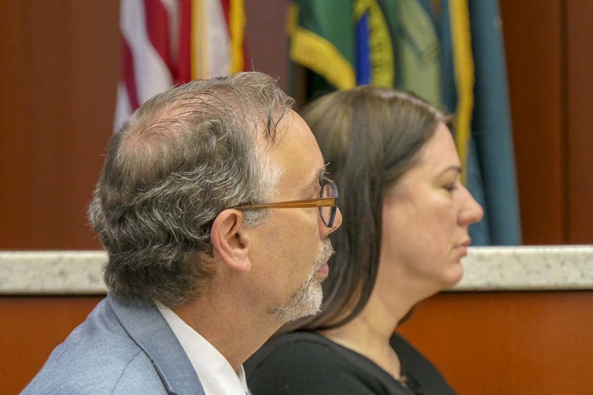 Dr. Alan Melnick, public health officer for Clark County, talks at a Board of Public Health meeting on TB and Measles cases in the county. Photo by Chris Brown