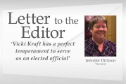 Letter: 'Vicki Kraft has a perfect temperament to serve as an elected official'