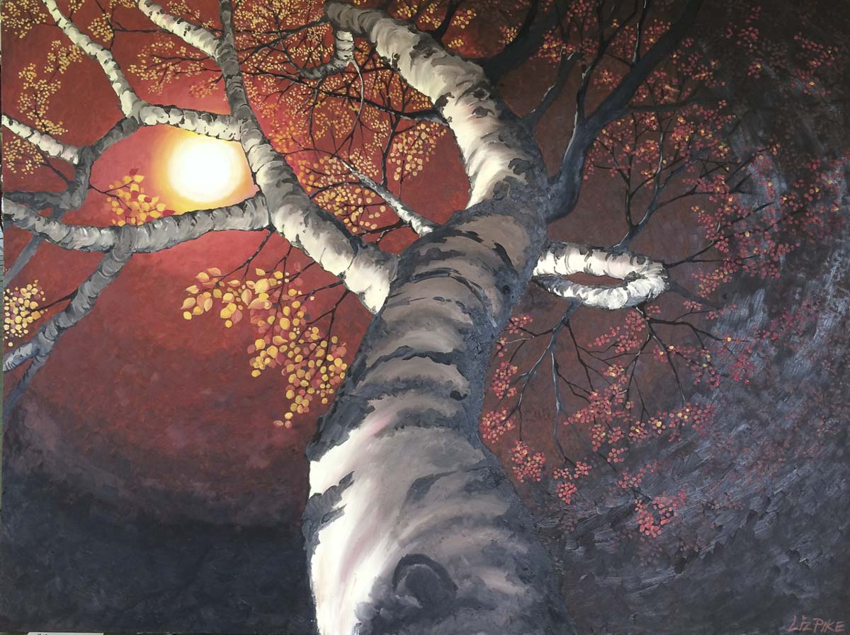 Liz Pike will present canvas paintings and prints at this year's Camas Vintage & Art Faire. This piece by Pike is entitled Reaching for the Sun. Photo courtesy of the Downtown Camas Association
