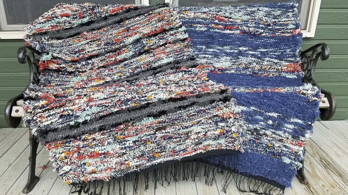 A new artist to this year's Camas Vintage & Art Faire is Kathy Marty of Windy Hill Weavers. Marty will bring her woven eco-friendly area rugs using cotton and recycled Pendleton Mills wool. Photo courtesy of the Downtown Camas Association