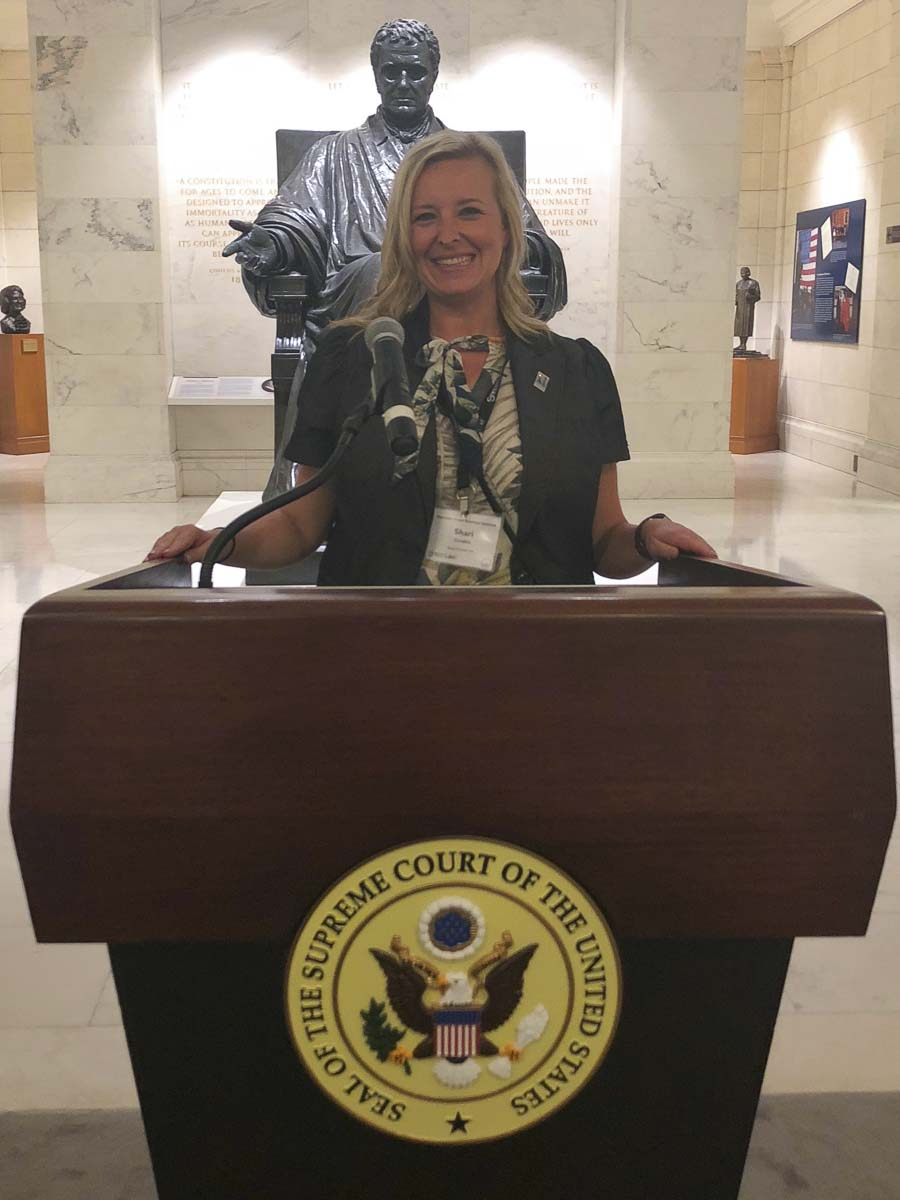 Woodland High School teacher Shari Conditt attended the Supreme Court Institute in Washington, D.C. this summer. Photo courtesy Woodland Public Schools