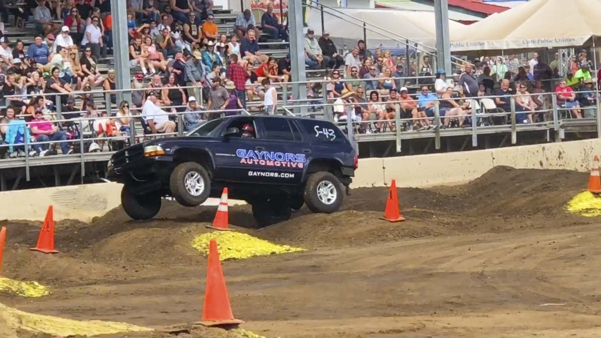 One of the most popular attractions during the final weekend of the 2018 Clark County Fair was the Tuff Trucks competition. Photo by Andi Schwartz