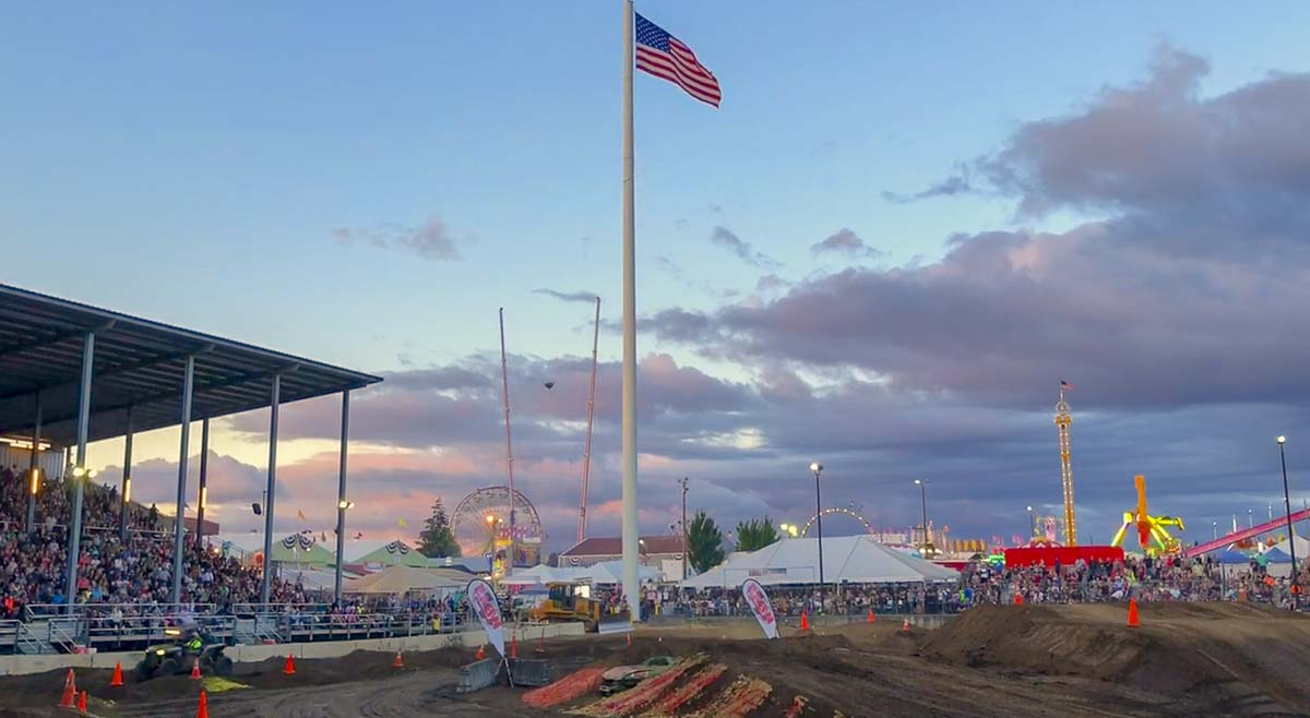 The venue was near perfect for the Tuff Trucks event this weekend at the 2018 Clark County Fair. Photo by Andi Schwartz