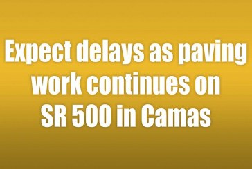 Expect delays as paving work continues on SR 500 in Camas