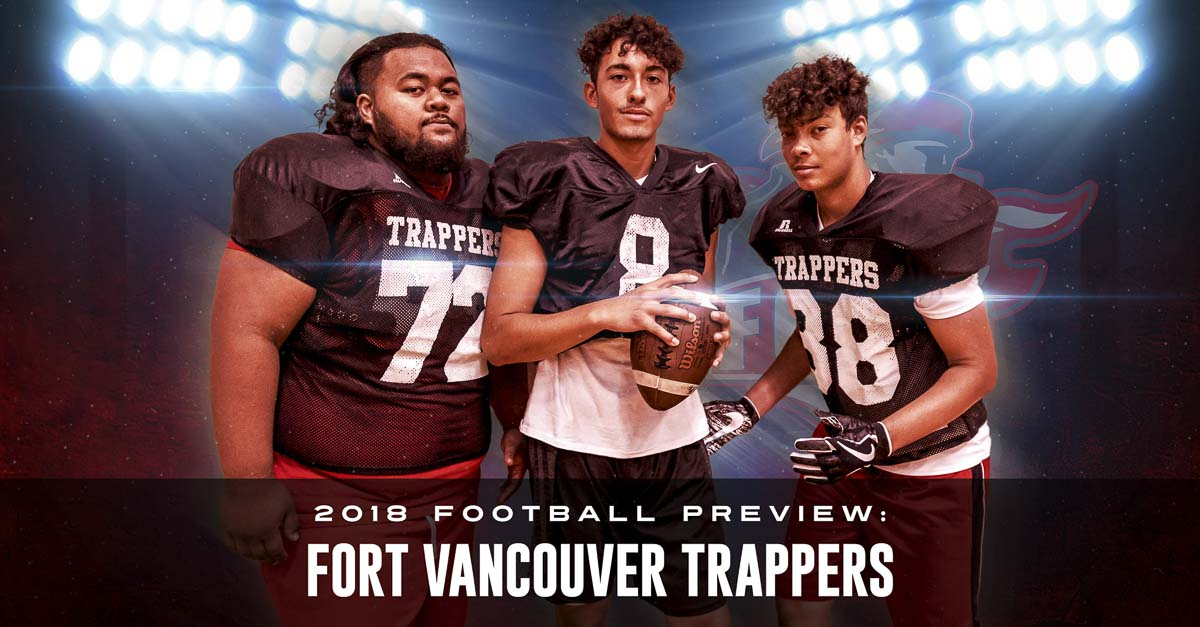 Jonavin Salavea, Isaac Martinez and Elimu Jackson believe in the present and future of the Fort Vancouver football program. As they improve their football skills, they also are buying in to a philosophy that teaches them to be better students, better people. Photo by Mike Schultz. Edited by Andi Schwartz.