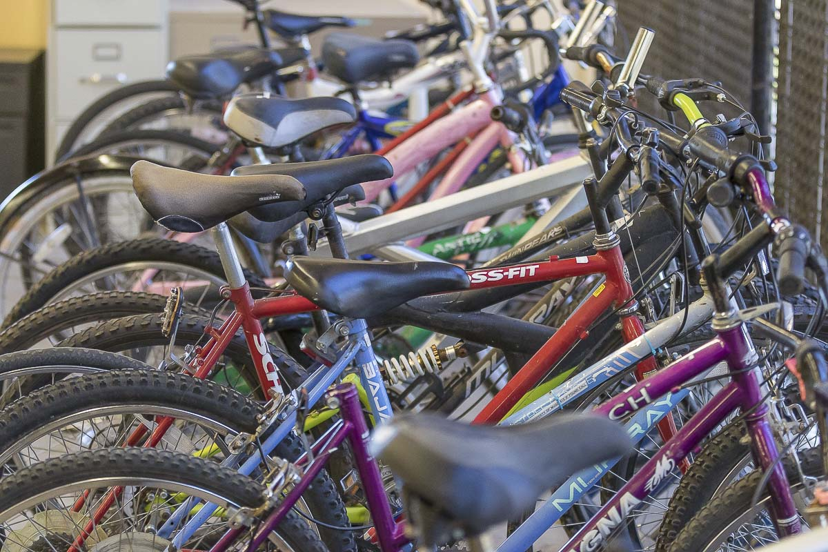Most bikes donated to Vancouver Goodwill locations go directly to the Outlet Center, since they have more space. Photo by Mike Schultz
