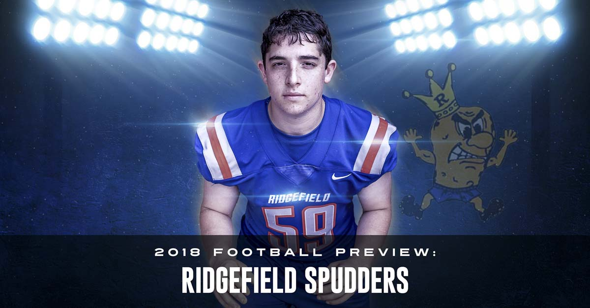 Simon Berkey might be smaller than the typical linebacker but he plays big, plays smart, and is a leader of the new Ridgefield Spudders. Photo by Mike Schultz. Edited by Andi Schwartz.