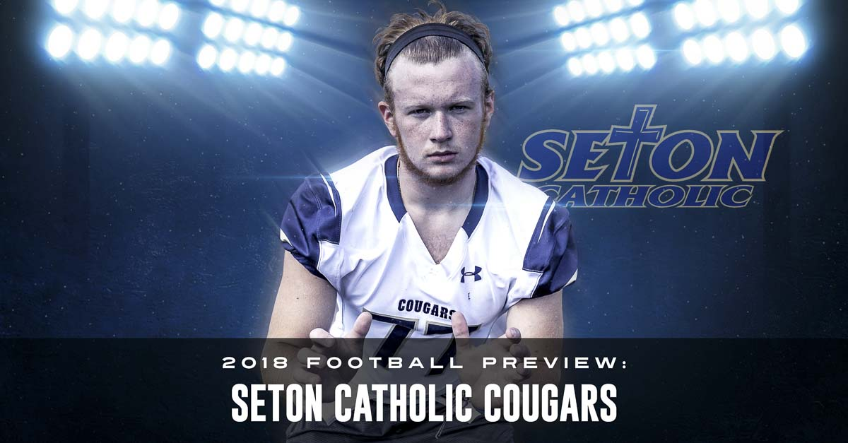 Bobby Voitik, an all-league lineman a year ago, believes the future starts now for Seton Catholic football. He wants to lead the Cougars to new heights. Photo by Mike Schultz. Edited by Andi Schwartz