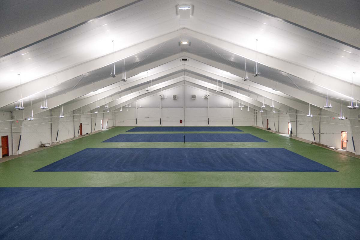 The Vancouver Tennis Center houses nine indoor courts, as well as four outdoor courts which it shares with Fort Vancouver High School. Photo by Jacob Granneman