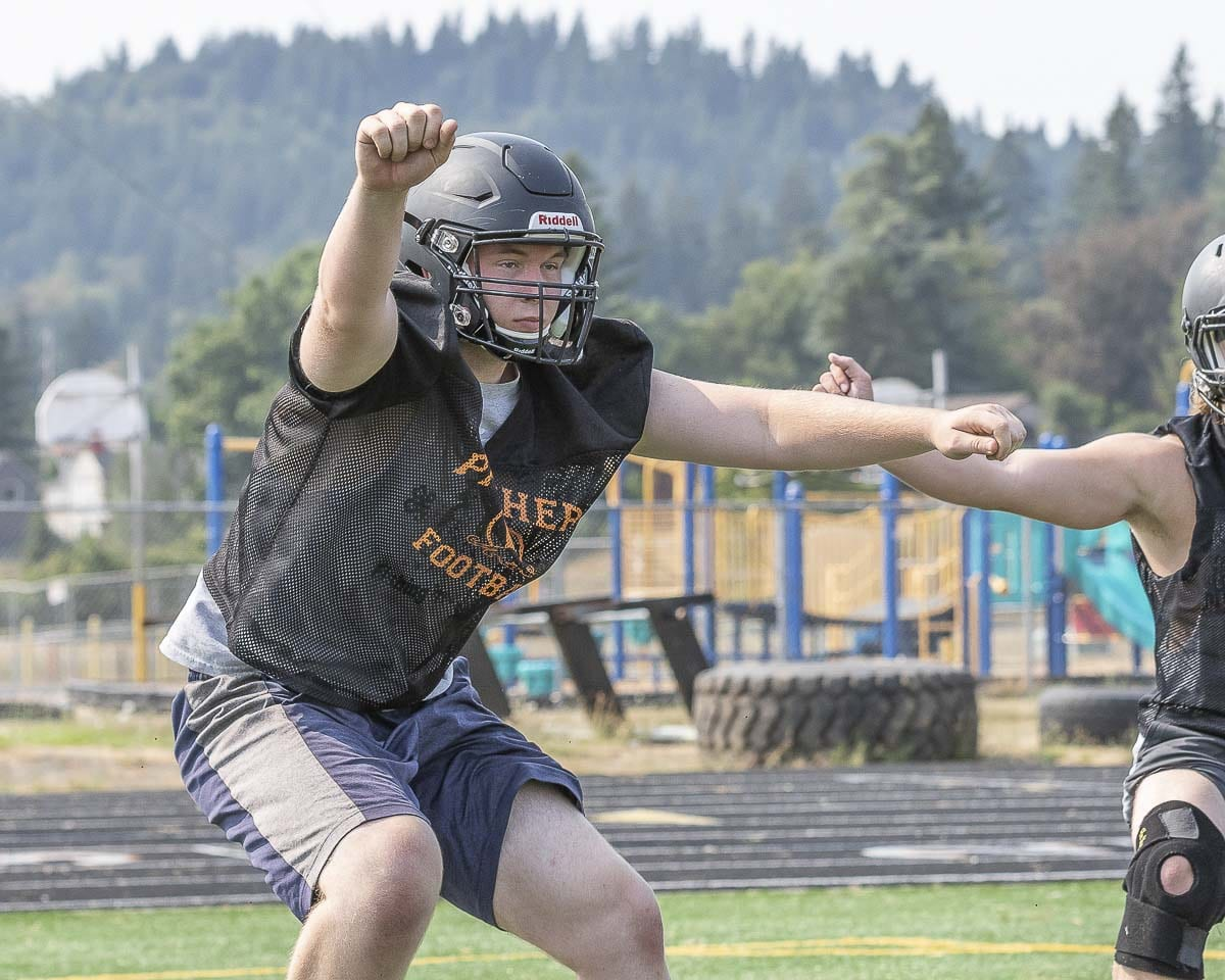 Lineman Dakota Andelman is another player to watch for the Washougal Panthers in 2018. Photo by Mike Schultz