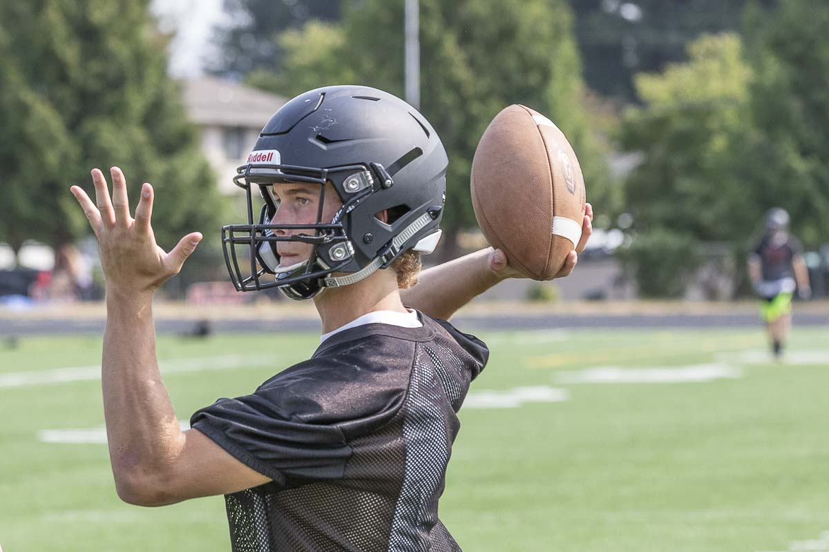 Dalton Payne said as quarterback he must become the leader of this team. Photo by Mike Schultz