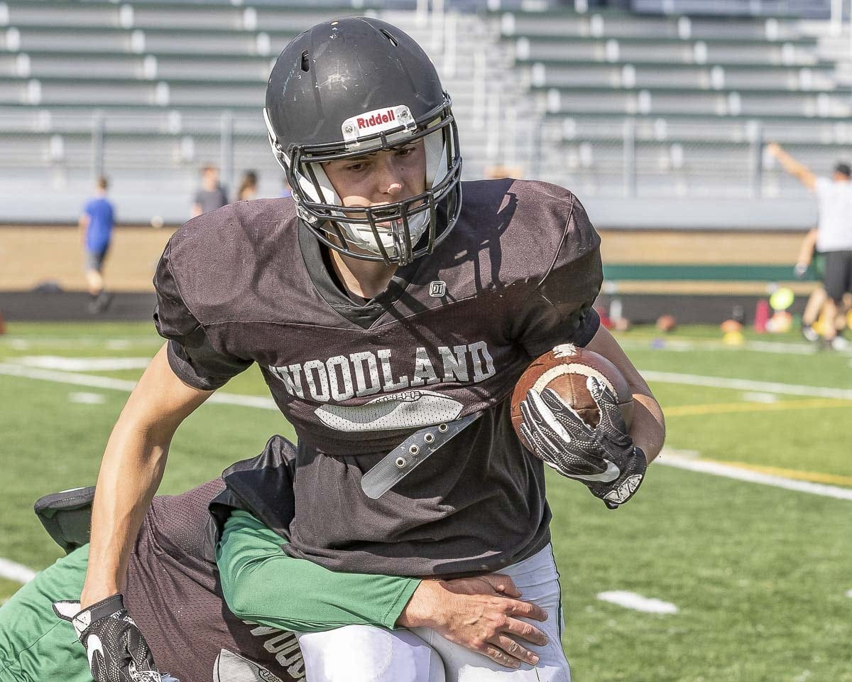 Junior Isaac Hall will likely be a big part of the Woodland offense this season. Photo by Mike Schultz