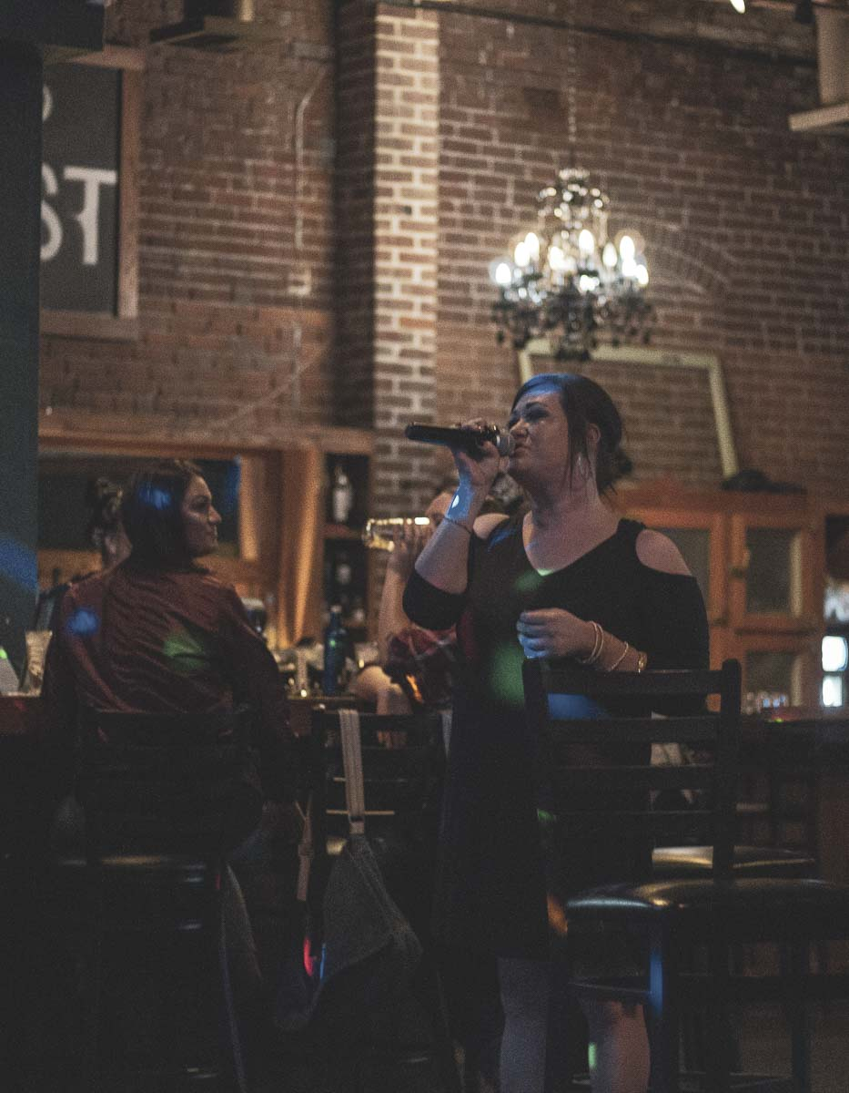 Singers from The League, competitive team karaoke, compete at 6 West Lounge in downtown Vancouver Thursday night. The League has over 80 members and is beginning to host city-vs-city tournaments. Photo by Jacob Granneman
