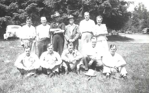 The first Kangas Family Reunion with all siblings in attendance was held in July 1948 at Lewisville Park. Shown here are the 11 siblings. Photo courtesy of Carol Taylor