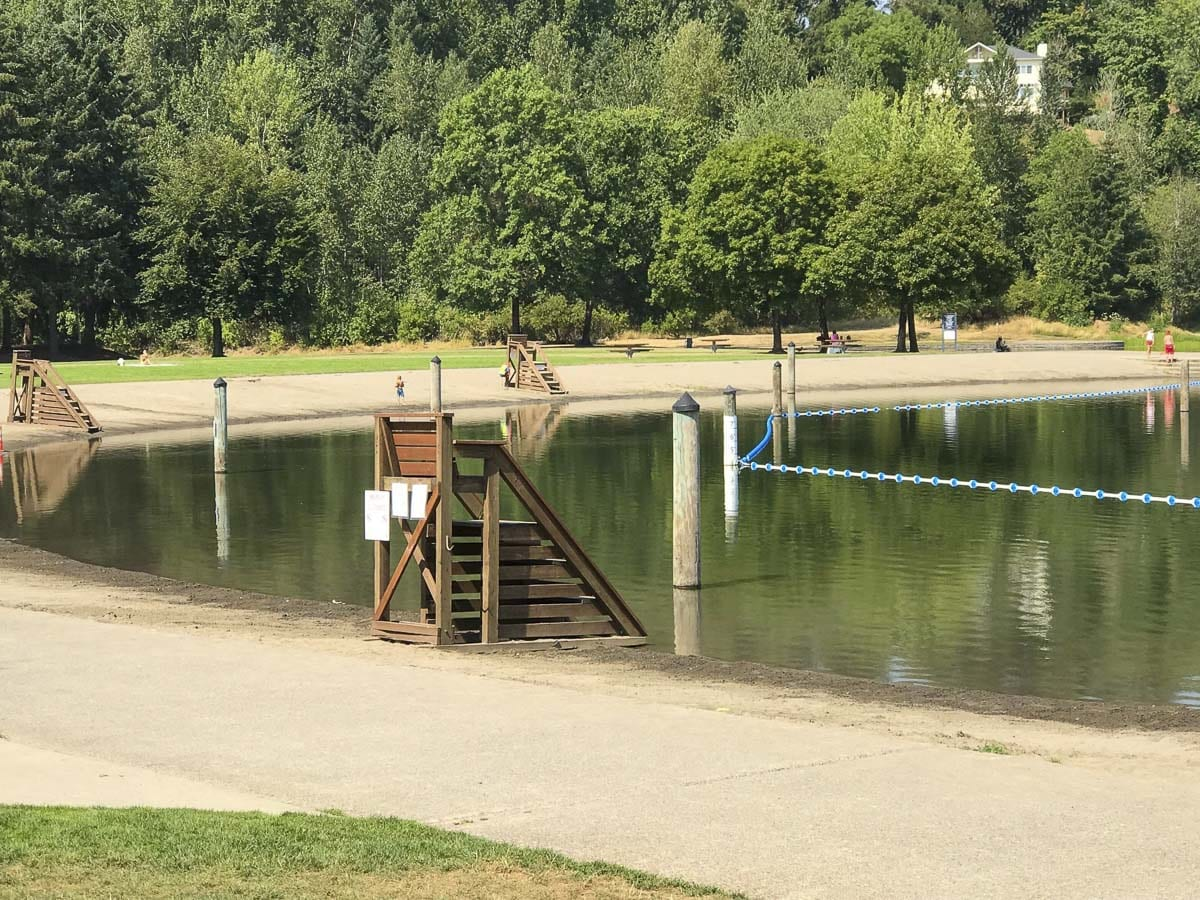 Clark County Public Health closed Klineline Pond Tuesday to swimmers due to elevated levels of E. coli bacteria detected during routine testing. Some E. coli bacteria can cause serious gastrointestinal illness if water is accidentally swallowed. Photo courtesy of Clark County Fire District 6