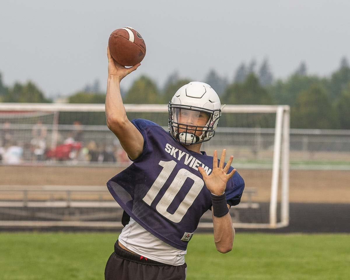 Junior Yaroslav Duvalko is one of the key returning players for the Skyview Storm this season. Photo by Mike Schultz