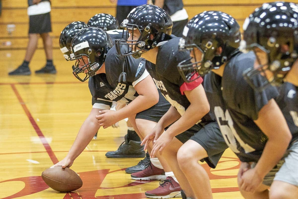"""The Fort Vancouver offense needs to start playing """"fast and fun"""" says their new coach Neil Lomax. He expects things to improve as the season progresses. Photo by Mike Schultz"""