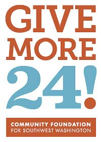 Give More 24!, southwest Washington's largest day of online giving, is scheduled for Thu., Sept. 20.