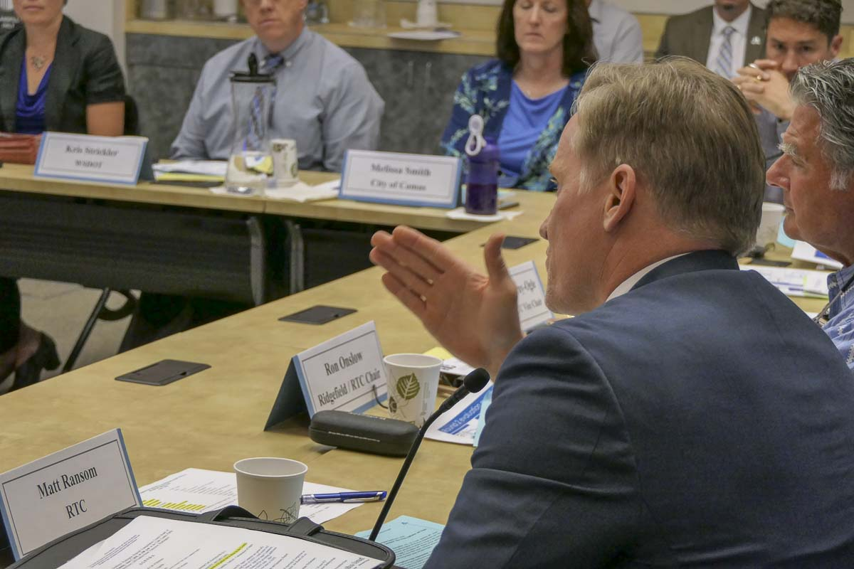 Regional Transportation Commission Director Matt Ransom speaks at a meeting in August. Photo by Chris Brown