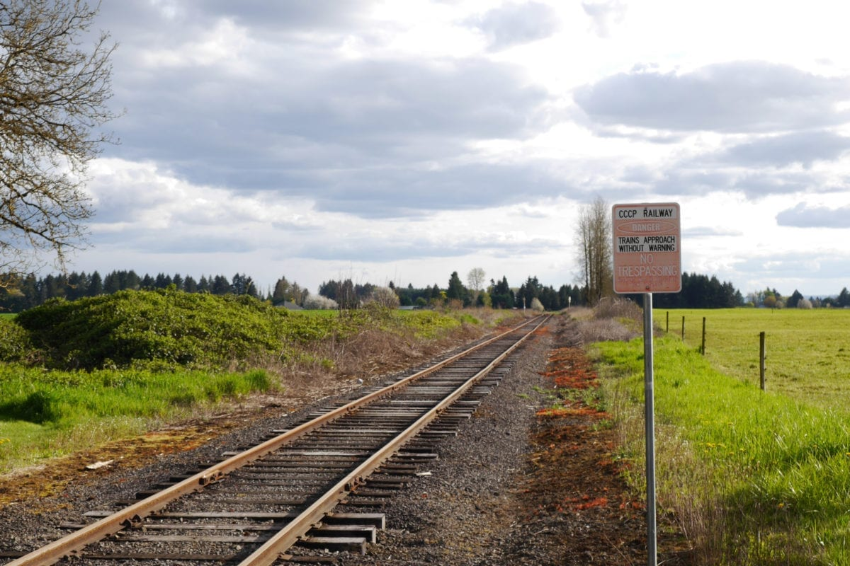 The Chelatchie Prairie Railroad, south of Brush Prairie, is an area Clark County is considering allowing Freight Rail Dependent development. Photo by Chris Brown