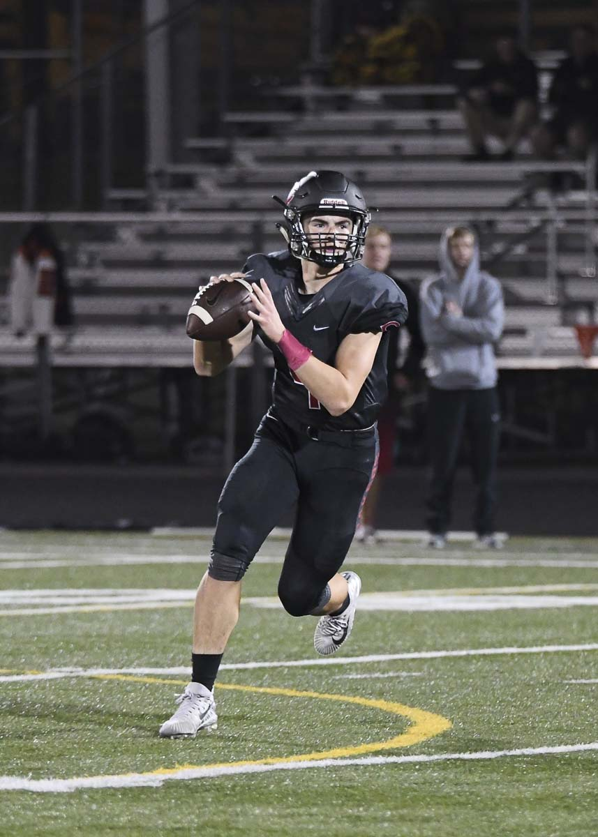 Andrew Boyle said it was a dream come true to play quarterback for the Camas Papermakers this season. Photo by Kris Cavin