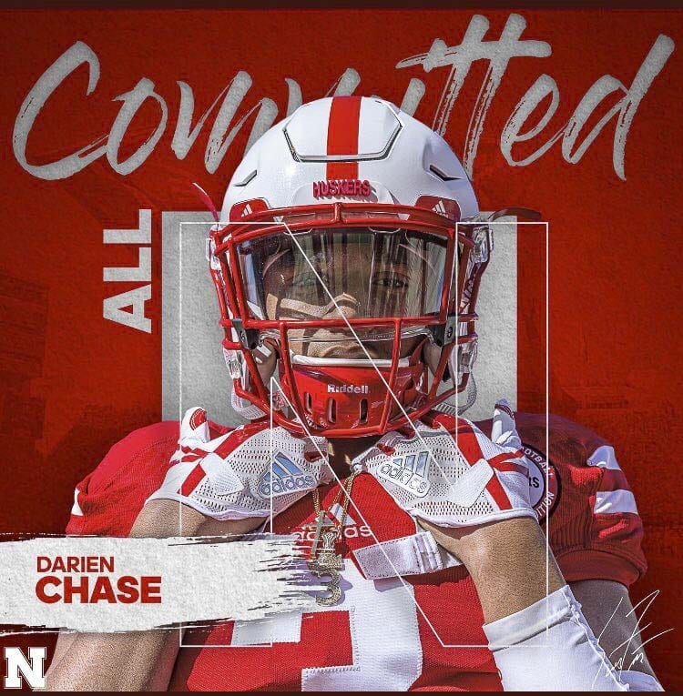 Darien Chase, a senior at Union, made his college choice Thursday afternoon. After offers from Northwest programs, he opted instead for Nebraska. Photo courtesy of Darien Chase's Twitter page.