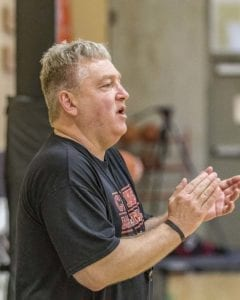 Greg Edwards operates the Cagers Basketball program out of a gym in Salmon Creek. The focus of his program is to prepare players for area high school programs. Photo by Mike Schultz