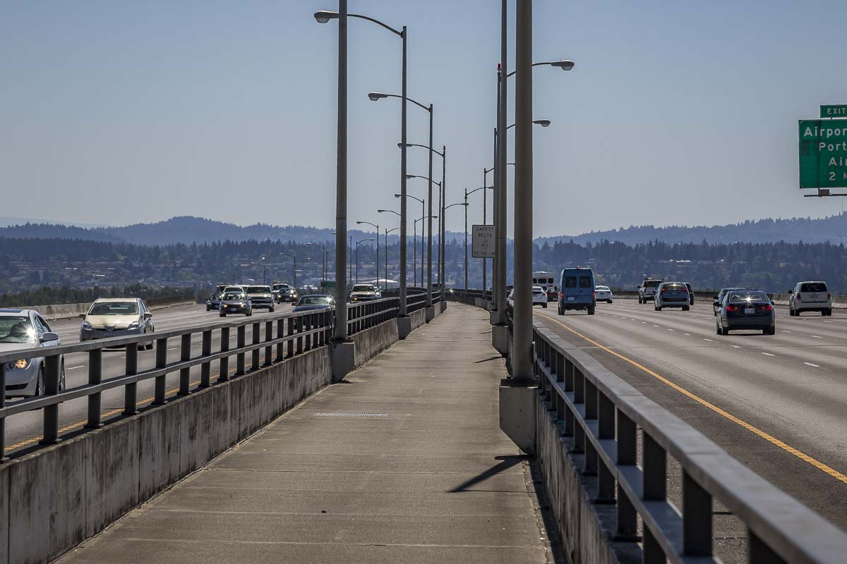 Bicycle and Pedestrian travelers who use the bike/pedestrian path on the Interstate 205 Glenn Jackson Bridge between Vancouver and Portland should plan to use an alternate route or an alternate mode of transportation on Tuesday. Photo by Mike Schultz