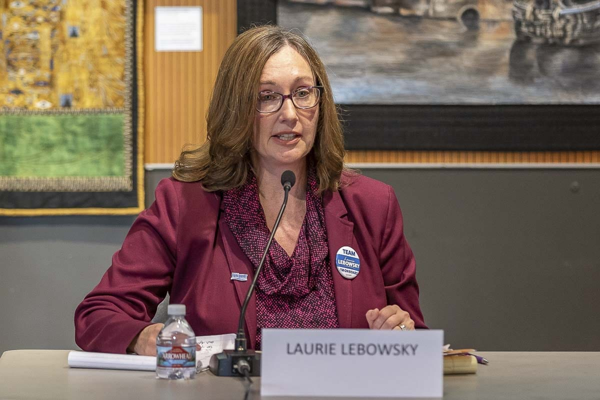 Incumbent candidate for Vancouver City Council, Laurie Lebowsky, was appointed to her current position earlier this year and served as the municipal planner for Clark County prior to being on council. Photo by Mike Schultz