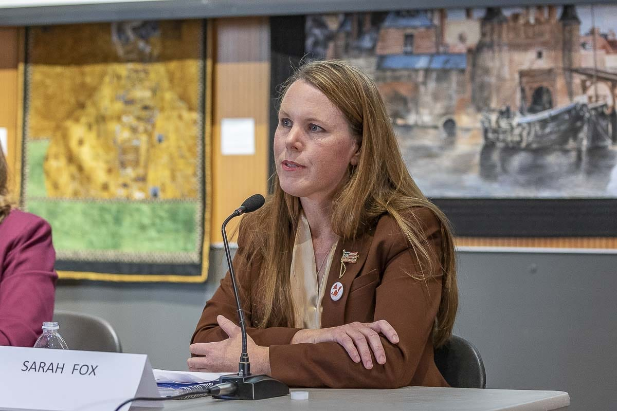 Candidate for Vancouver City Council, Sarah Fox, has been the president of the American Planning Association for Southwest Washington and has served as a member of the U.S. Army. Photo by Mike Schultz