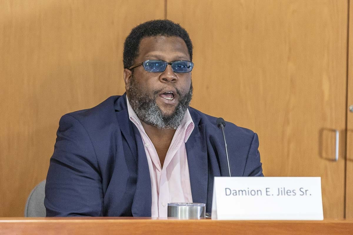 Army vet Damion Giles, Sr. is hoping to unseat two-term Republican Paul Harris for the 17th District, Position 2, in November. Photo by Mike Schultz