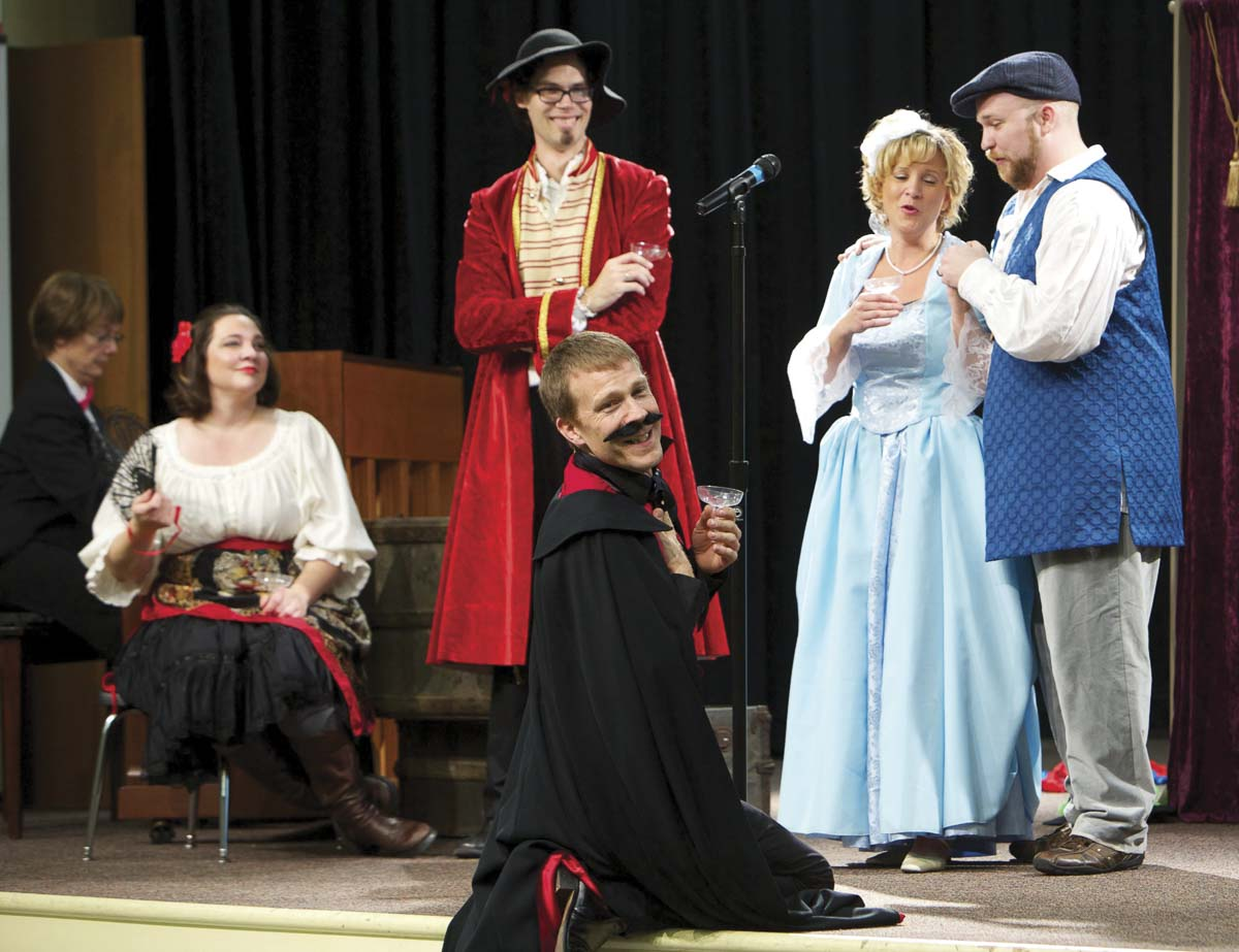 """Students participate in Opera Qwest Northwest's production of """"Fiddler on the Roof'' at Washburn Performing Arts Center in Washougal. Opera Qwest Northwest is partially funded by the Camas-Washougal Community Chest. Photo courtesy of the Camas-Washougal Community Chest"""