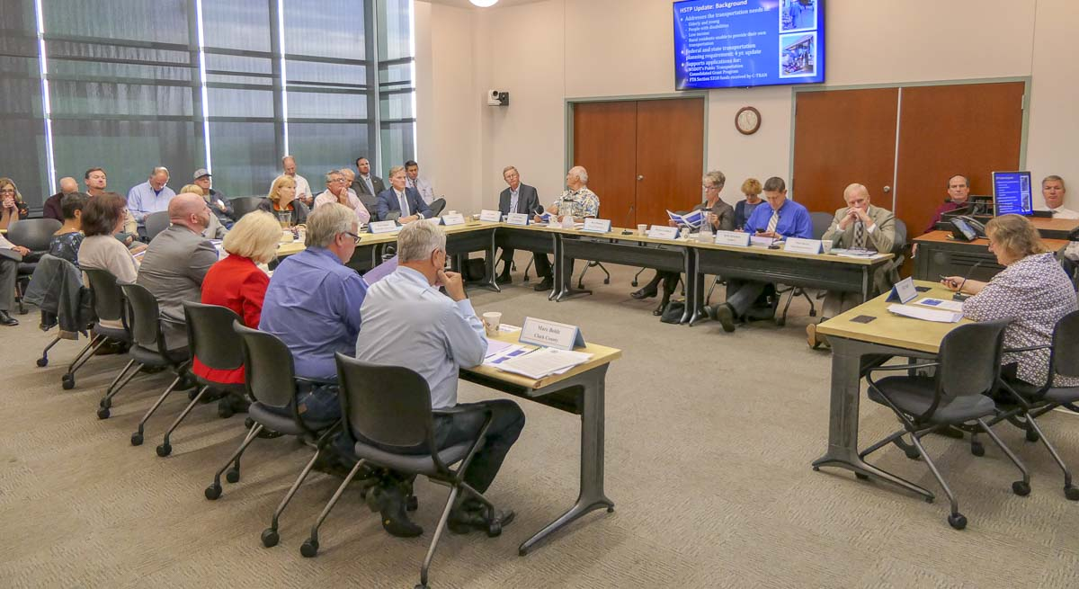 The Regional Transportation Council meets at the Clark County Public Service building for their October session. Photo by Chris Brown