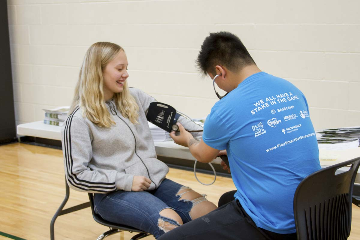 Since Providence Heart Institute started the program six years ago, they have performed more than 26,000 screenings revealing 6 percentage of students (approximately 1,330) with serious health issues needing follow-up and treatment. Photo courtesy of Woodland School District