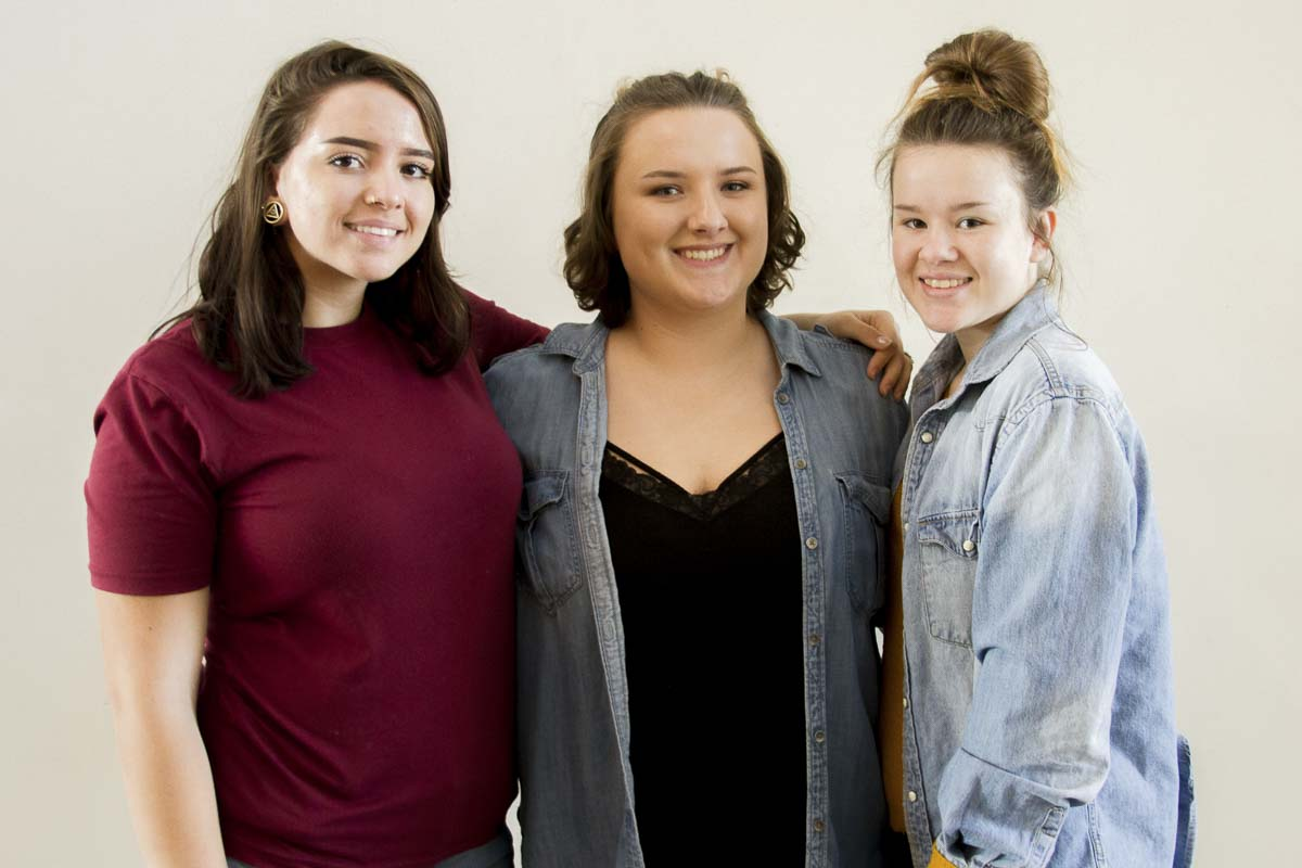 Woodland High School's Audrey Moir (senior), Julea Orem (senior) and Vanessa Hansen (junior) signed up for free screening to stay up-to-date on their health. Photo courtesy of Woodland School District