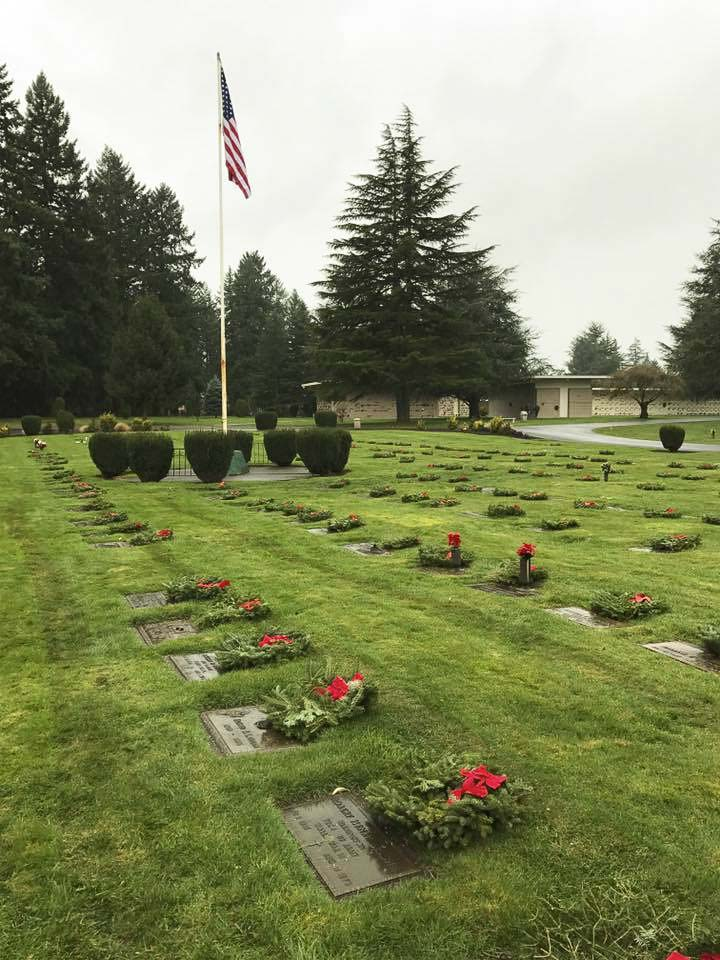 The Lewis and Clark Young Marines managed to acquire 462 wreath sponsorships in 2017. This year they aim to get 2,000; enough for every veteran grave at Evergreen Memorial Gardens. Photo by Alex Peru