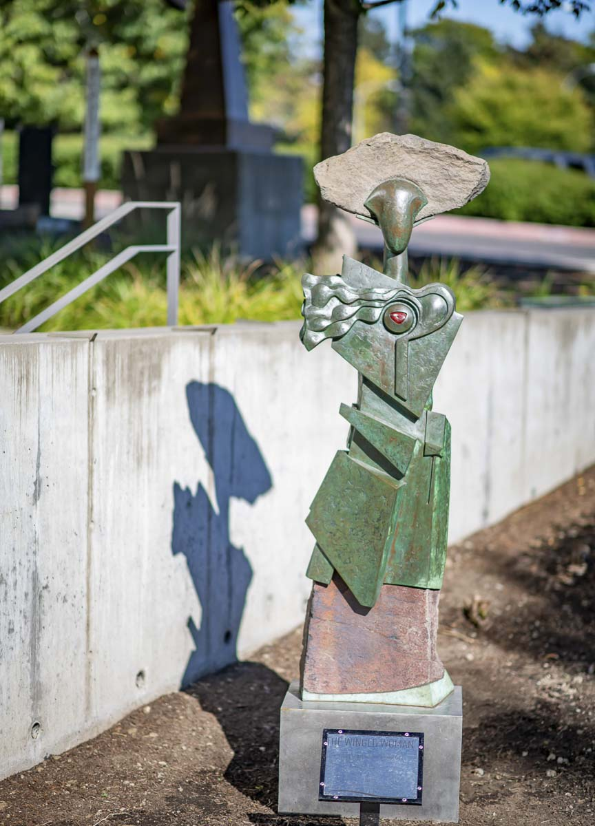 """Winged Woman"" by Elizabeth Heron (formerly Kohler). Photo courtesy of city of Vancouver"