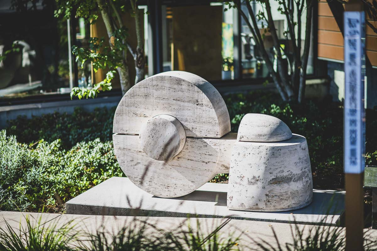 """Wheel Series"" by Don Wilson. Photo courtesy of city of Vancouver"