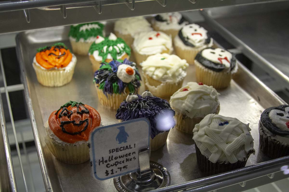 Halloween themed treats for sale at the Clark College bakery. Photo by Jacob Granneman