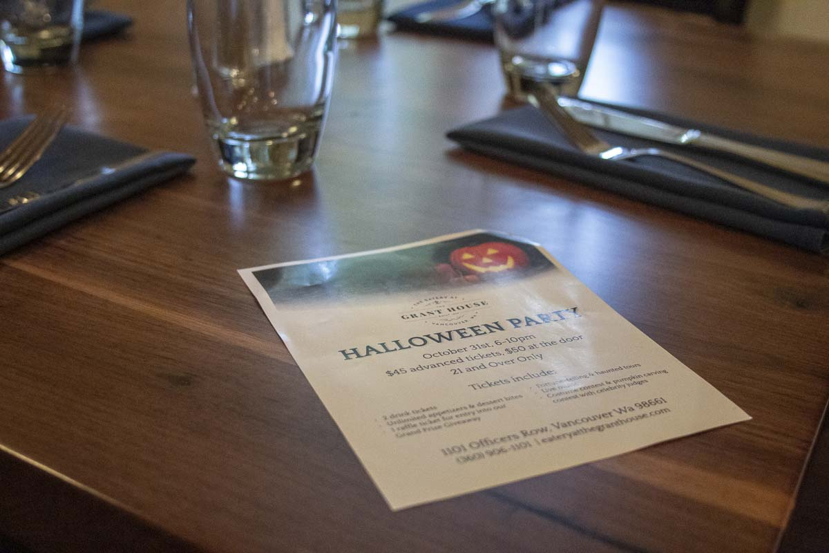 The Eatery at the Grant House on on Officers Row will be hosting an adult Halloween party this year, with appetizers and pumpkin carving contests. Photo by Jacob Granneman