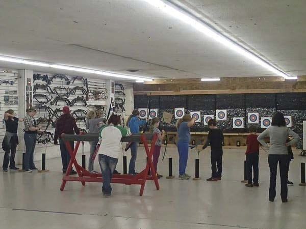 The shooting range at the current location for Archery World Vancouver. Photo courtesy of Archery World