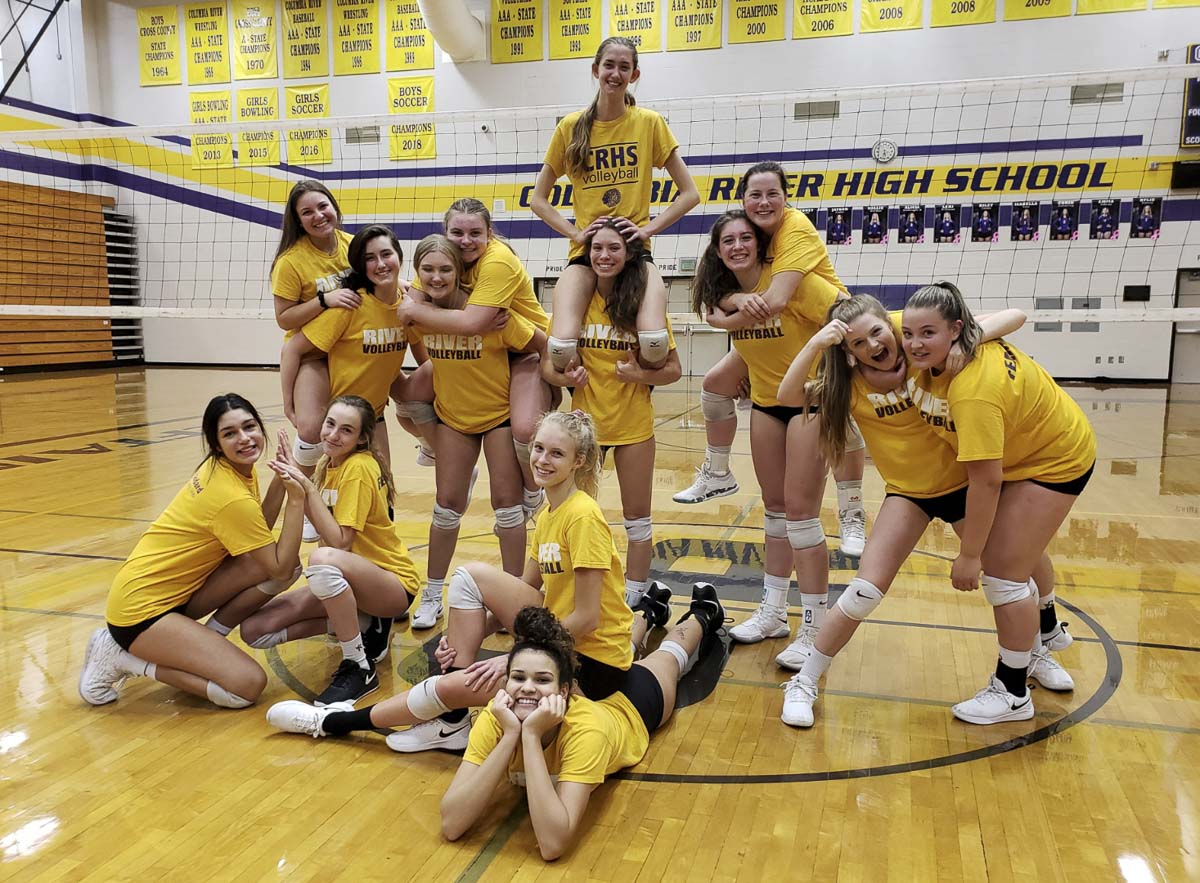 The Columbia River Chieftains responded to some struggles early in the fall, rededicated their season to each other, and then won the Class 2A District 4 volleyball tournament. They are going to state this weekend. Photo by Paul Valencia