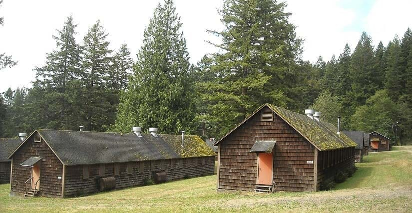 Barracks at Camp Bonneville in Clark County. Photo courtesy Clark County Parks Department