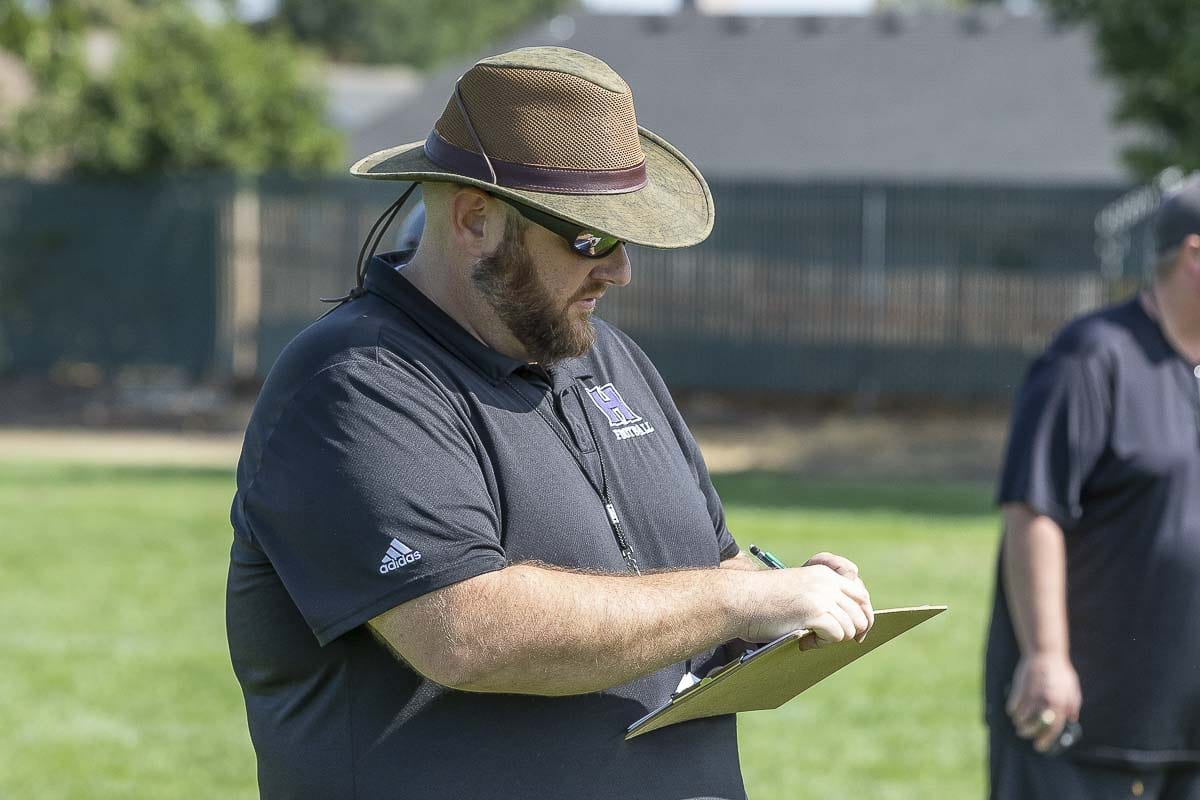 Matt Gracey is no longer the football coach at Heritage High School. He was informed this week that the school wants to go on a different path after his four years leading the program. Photo by Mike Schultz