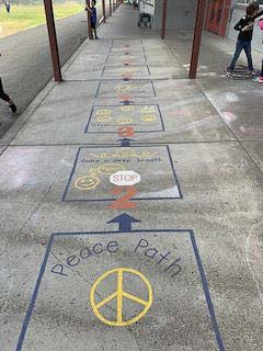 The Peace Path at Union Ridge Elementary School in Ridgefield. Photo courtesy of Ridgefield School District